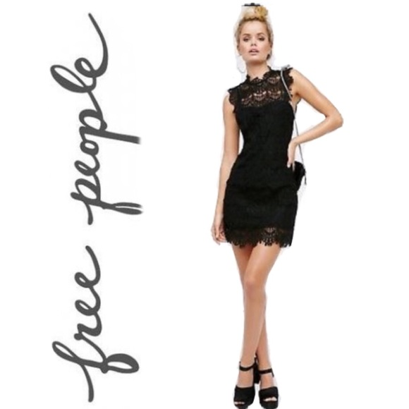 Free People Dresses & Skirts - NWT Free People Navy Daydream Lace Dress